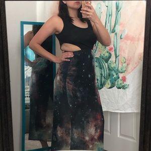 Cutout Galaxy Maxi Dress M
